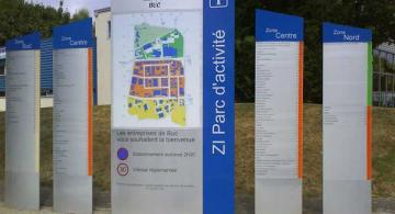 Signalétique Zi parc d'activité ville de Buc