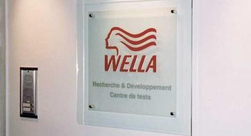 Signalétique intérieure Wella