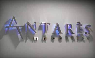 Logo lettres inox